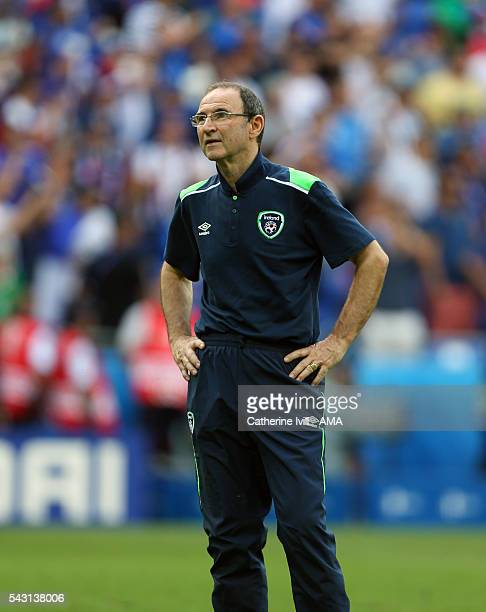 Republic of Ireland manager Martin O'Neill after the UEFA EURO 2016 Round of 16 match between France and Republic of Ireland at Stade des Lumieres on...