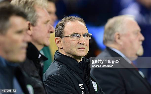 Republic of Ireland manager Martin O'Neill during the Euro 2016 playoff second leg match between the Republic of Ireland and BosniaHerzegovina at...