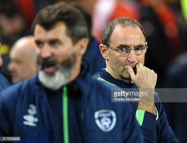 Republic of Ireland manager Martin O'Neill during the international friendly match between the Republic of Ireland and Switzerland at Aviva Stadium...