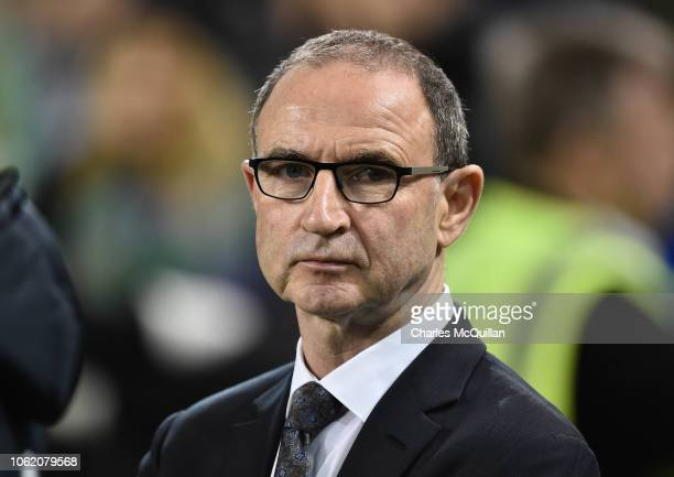Republic of Ireland manager Martin O'Neill looks on during the International friendly football game between the Republic of Ireland and Northern...