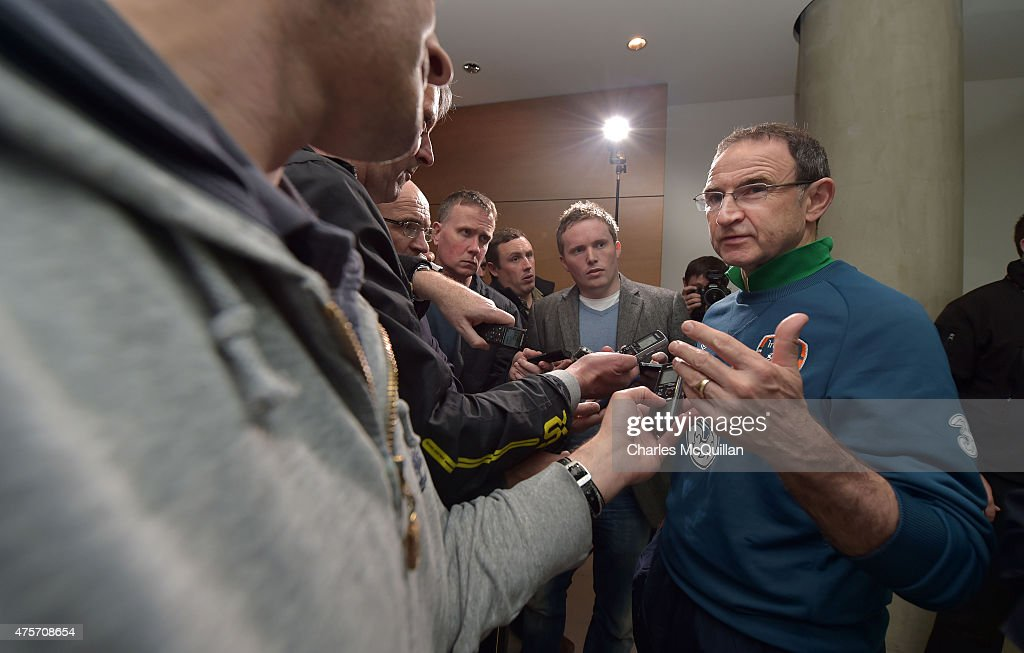 Republic of Ireland manager Martin O'Neill speaks to reporters after an open training session at Aviva Stadium on June 3, 2015 in Dublin, Ireland. The Republic of Ireland play England in a friendly game this coming Sunday, the first meeting between the two sides in Dublin since the abandonment of a game in 1995 due to hooliganism.
