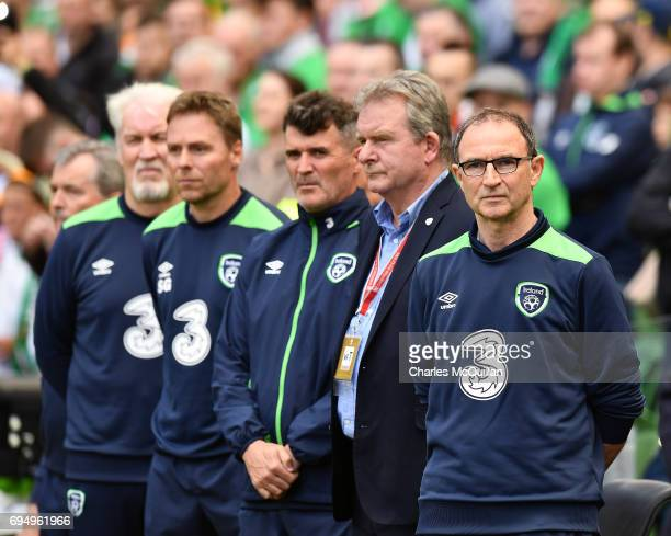 Republic of Ireland manager Martin O'Neill watches on from the sidelines during the FIFA 2018 World Cup Qualifier between Republic of Ireland and...