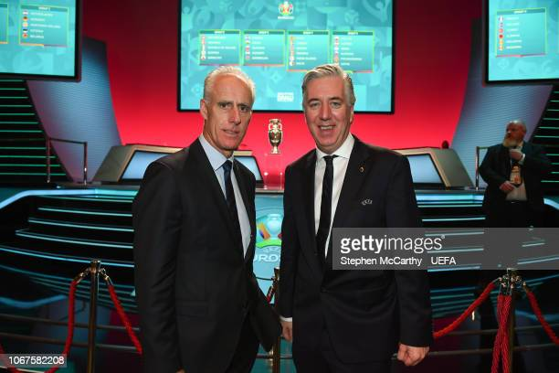 Republic of Ireland manager Mick McCarthy and John Delaney CEO Football Association of Ireland following the UEFA Euro 2020 Draw on December 2 2018...