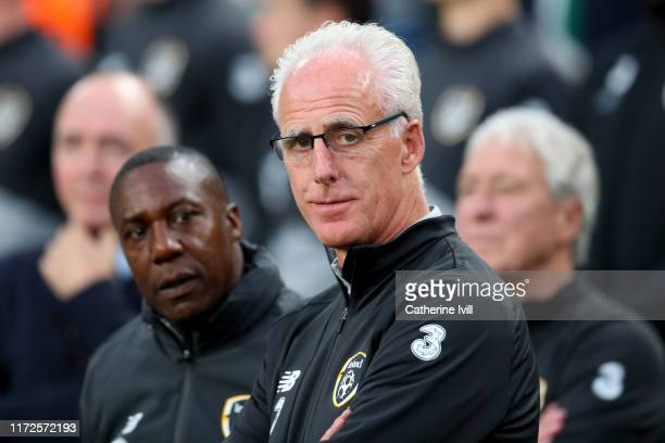 Republic of Ireland Manager Mick McCarthy looks on during the UEFA Euro 2020 qualifier between Republic of Ireland and Switzerland at Aviva Stadium...