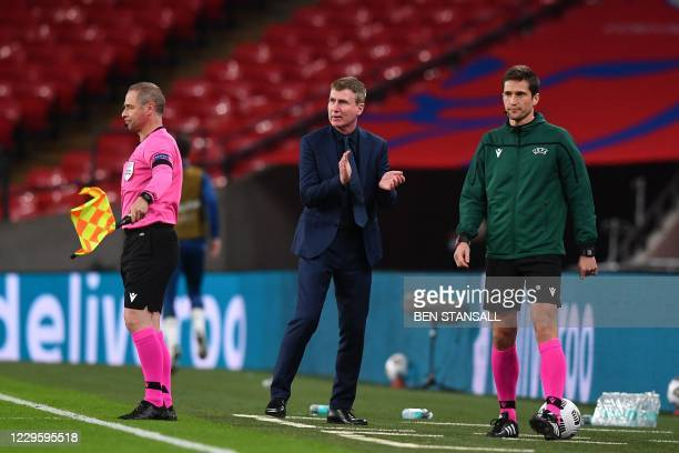 Republic of Ireland manager Stephen Kenny during the international friendly football match between England and Republic of Ireland at Wembley stadium...