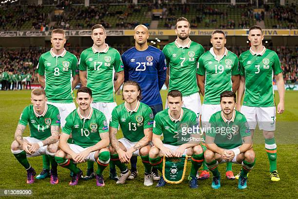 Republic of Ireland national football team poses for photo during the FIFA World Cup 2018 Qualifying Round Group D match between Republic of Ireland...