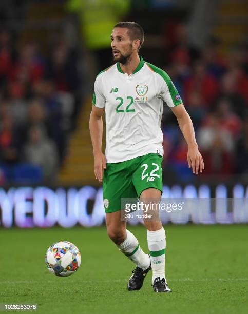 Republic of Ireland player Conor Hourihane in action during the UEFA Nations League B group four match between Wales and Republic of Ireland at...