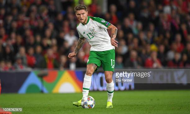 Republic of Ireland player Jeff Hendrick in action during the UEFA Nations League B group four match between Wales and Republic of Ireland at Cardiff...