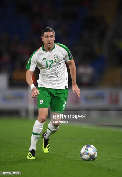 Republic of Ireland player Stephen Ward in action during the UEFA Nations League B group four match between Wales and Republic of Ireland at Cardiff...