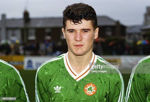 Republic of Ireland under 21 player Roy Keane pictured before a European Championship Qualifier against England on November 13, 1990 in Cork, Ireland.