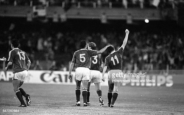 Republic of Ireland v England in Stadio Sant'Elia, Cagliari The result was England 1 - Republic of Ireland 1 . .