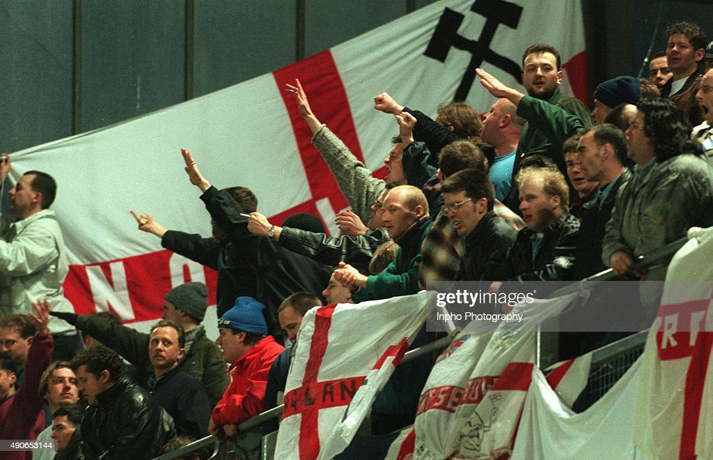 Republic of Ireland vs England soccer when rioting broke out : News Photo