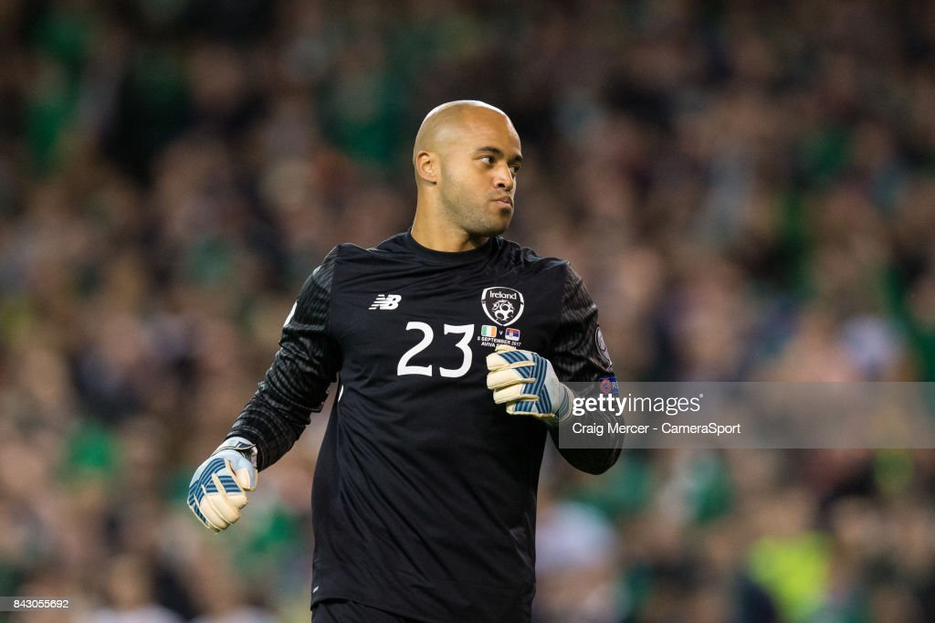 Republic of Ireland's Darren Randolph during the FIFA 2018 World Cup Qualifier between Republic of Ireland and Serbia at Aviva Stadium on September 5, 2017 in Dublin, .