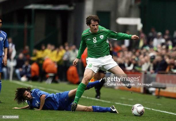 Republic of Ireland's Kevin Kilbane beats Israel's Saban Klemi