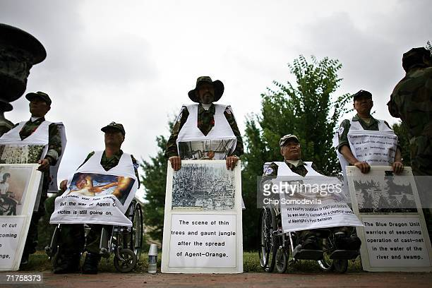 Republic of Korea Armed Forces veterans who say they are suffering from diseases caused by exposure to Agent Orange hold a vigil across Pennsylvania...