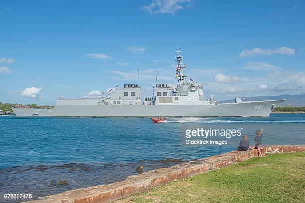 Republic of Korea Navy guided-missile destroyer Sejong the Great in Pearl Harbor.