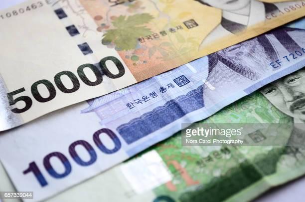 Republic of Korea Won bank notes
