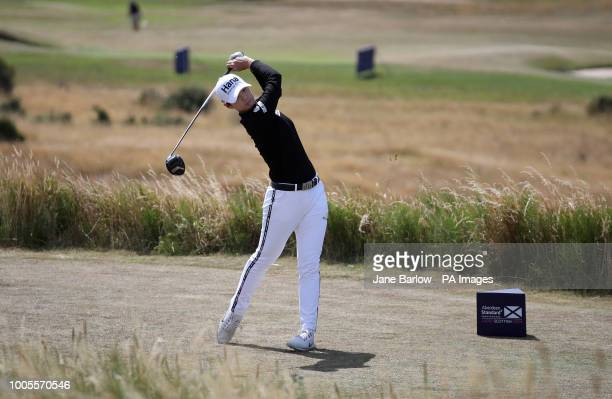 Republic of Korea's Hyun Sung Park on the 5th tee during day one of the 2018 Aberdeen Standard Investments Ladies Scottish Open at Gullane Golf Club...