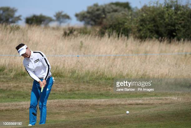 Republic of Korea's So Yeon Ryu putts on the fourth green during day one of the 2018 Aberdeen Standard Investments Ladies Scottish Open at Gullane...