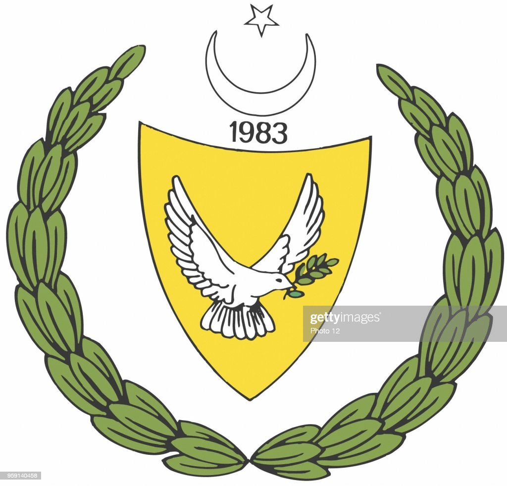 republic of northern cyprus coat of arms ニュース写真 getty images