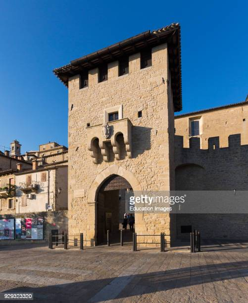 Republic of San Marino Porta San Francesco the gate of St Francis also known as Porta del Loco Entrance into city of San Marino