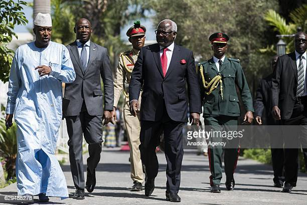 Republic of Sierra Leone President Ernest Bai Koroma arrives to attend a meeting to find a solution to political crisis after Gambian Presidential...