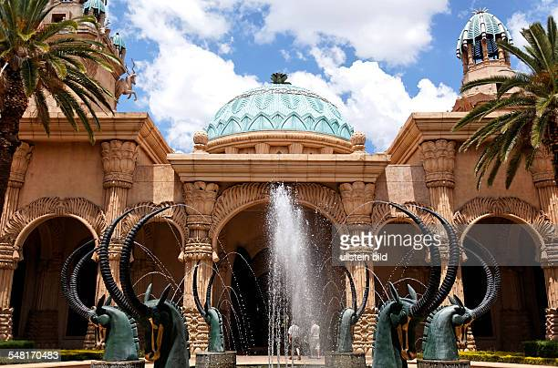 Republic of South Africa North West Transvaal Sun City entrance of the luxury hotel Palace of the Lost City