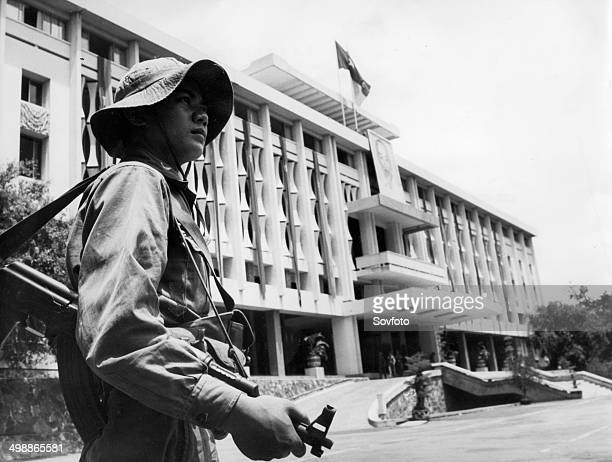 Republic of South Vietnam Former presidential palace of dictator Nguyen Van Thieu in downtown Saigon now houses the Military Administration Committee...