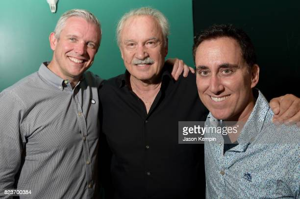 Republic Records AR EVP Rob Stevenson Giorgio Moroder and Casablanca Records GM Brett Alperowitz attend the I Feel Love 40th Anniversary Party...