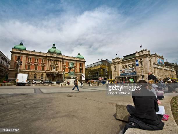 Platz der Republik in Belgrad