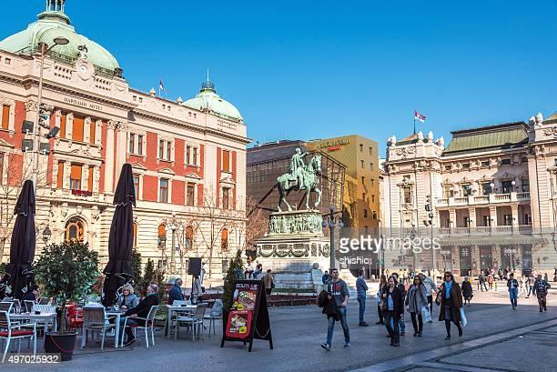 Republic square in Belgrade, Serbia