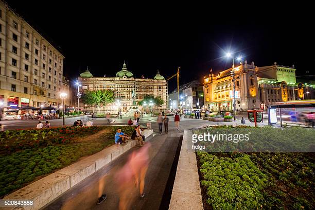 republic square in belgrade, serbia - belgrade serbia stock pictures, royalty-free photos & images