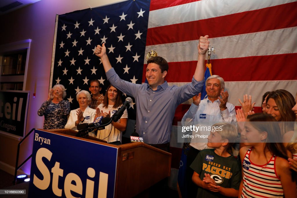 Wisconsin GOP Senate Candidate Bryan Steil Attends Primary Night Gathering