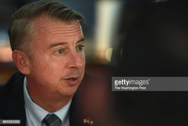 Republican candidate for governor Ed Gillespie announces his policy initiative during Loudoun Kitchen Table Conversation in Sterling VA March 16 2017...