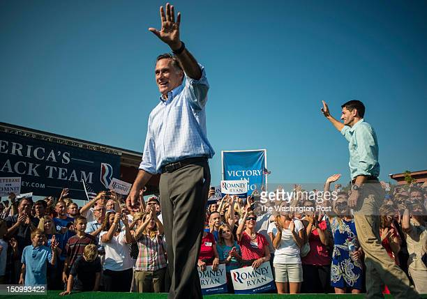 Republican candidate for President Governor Mitt Romney and Vice Presidential Candidate Congressman Paul Ryan participate in a 5000 in attendance...
