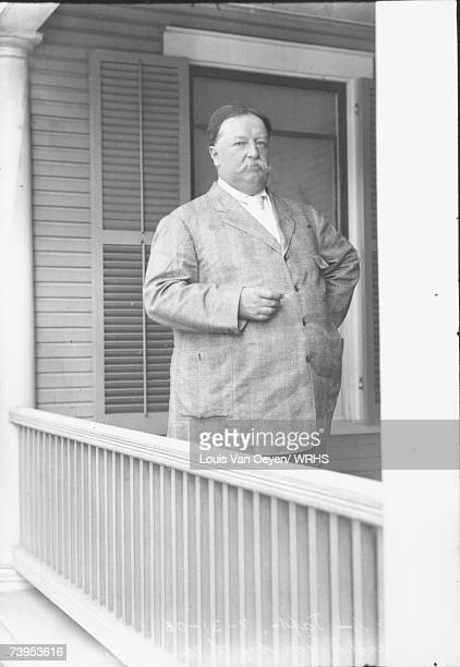 Republican candidate for President William Howard Taft poses for a portrait while vacationing on Middle Bass Island. Taft would easily defeat...