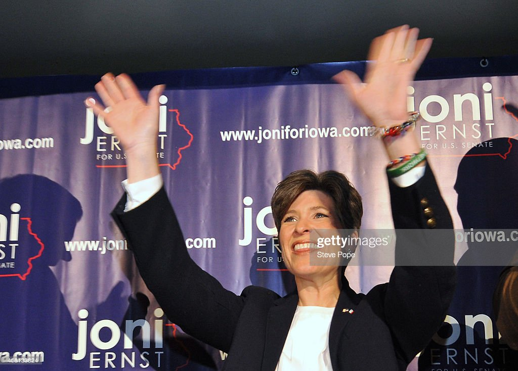 Joni Ernst Holds Election Rally After Statewide Campaign Swing Of Iowa