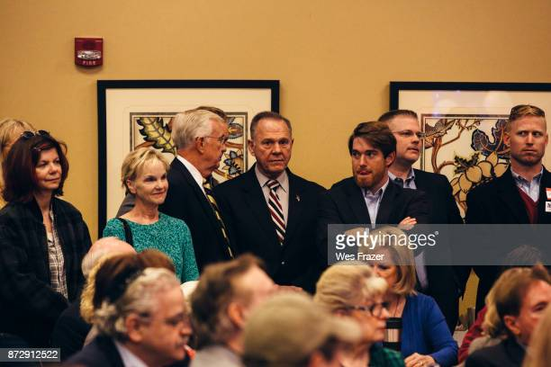 Republican candidate for US Senate Judge Roy Moore appears at a midAlabama Republican Club's Veterans Day event on November 11 2017 in Vestavia Hills...