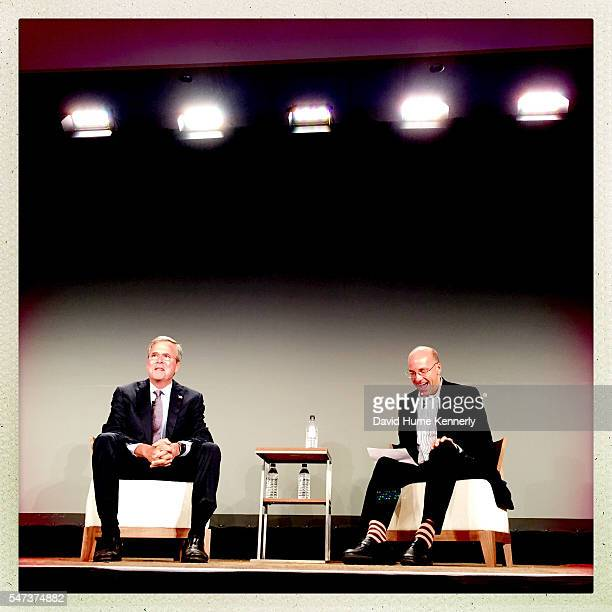 Republican candidate Gov Jeb Bush of Florida is interviewed by Politico's Mike Allen at the Freedom Partners Chamber of Commerce a freemarket...