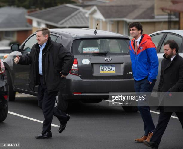 Republican Congressional Candidate Rick Saccone arrives to vote in the special election to fill the 18th Congressional District seat vacated by...