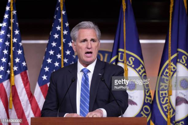 Republican Congressman Kevin McCarthy is addressing reporters at her weekly press conference on Capitol Hill, Thursday, May 16 Washington, D.C.