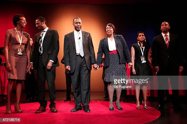Republican Dr Ben Carson a retired pediatric neurosurgeon joins hands with his wife Candy as he officially announces his candidacy for President of...