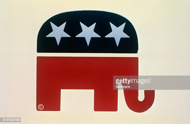 1974 Republican Elephant graphic the symbol of the Republican Party
