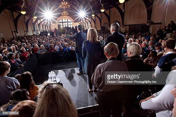 Republican front runner Mitt Romney campaigns to a packed audience Wednesday at Winthrop College in Rock Hill SC as he works to fend off a challenge...
