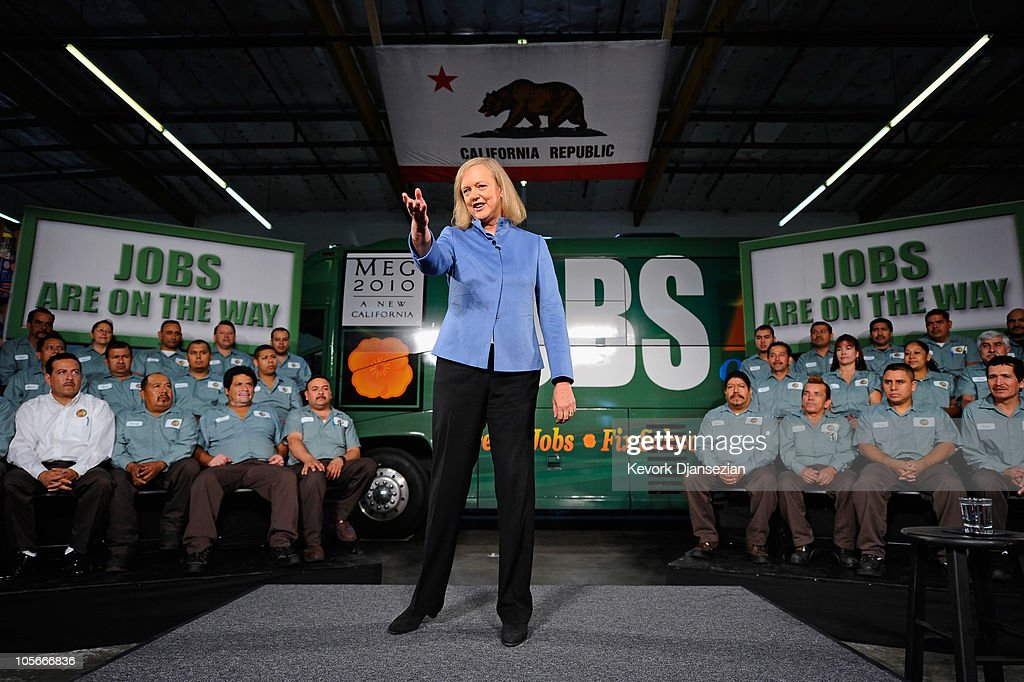 Meg Whitman Campaigns In Orange County