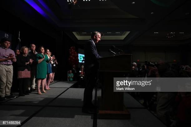 Republican gubernatorial candidate Ed Gillespie speaks to supporters at an election night rally on November 7 2017 in Richmond Virginia Gillespie was...