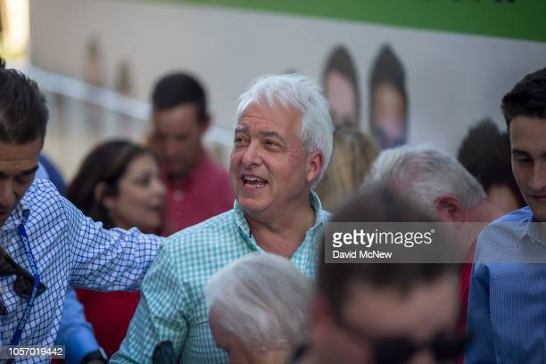 Republican gubernatorial candidate John Cox takes part in a get-out-the-vote rally for Rep. Steve Knight on November 3, 2018 in Santa Clarita,...