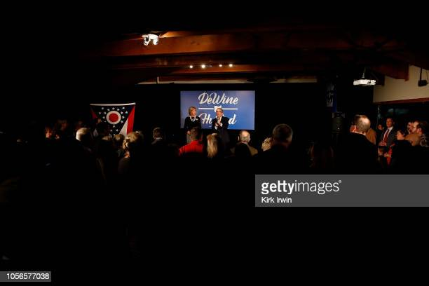 Republican Gubernatorial Candidate Ohio Attorney General Mike DeWine lists some of his political accomplishments and explains to supporters why he is...