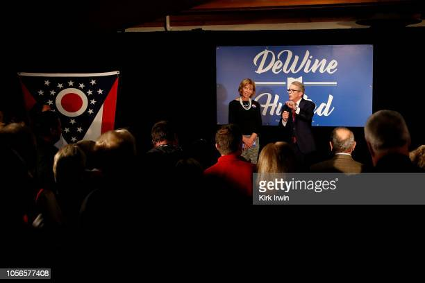 Republican Gubernatorial Candidate Ohio Attorney General Mike DeWine along with his wife Fran DeWine lists some of his political accomplishments and...