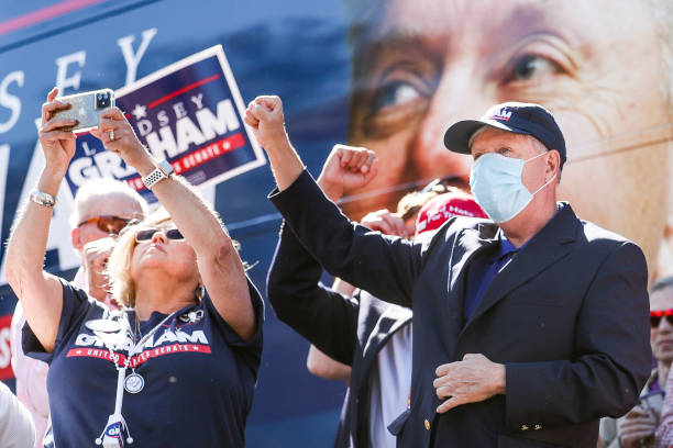 SC: Sen. Lindsey Graham Holds Campaign Bus Tour In South Carolina Ahead Of Election
